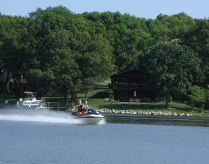 Jet skiing on Lake Panorama